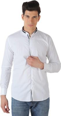 TT Men's Solid Casual Reversible White, Black Shirt