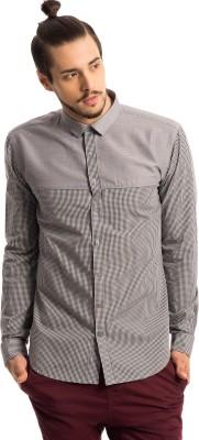Specimen Men's Checkered Casual Black Shirt