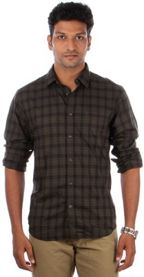 Indian Terrain Men's Checkered Casual Multicolor Shirt