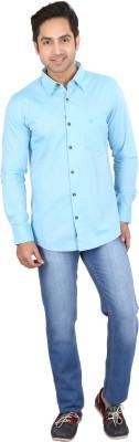 Tasho Zaara Men's Solid Casual Light Blue Shirt