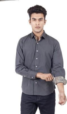Blacksoul Men's Solid Casual Grey Shirt
