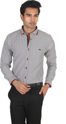 LSD Casuals Men's Striped Casual Black, White Shirt