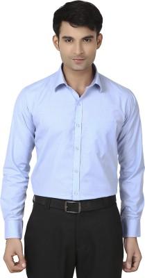 VAPE Men's Solid Casual Light Blue Shirt