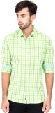 Alamurit Men's Checkered Casual Green Sh...