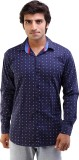 AR Fashions Men's Printed Casual Blue Sh...