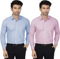 Utility Studio Formal Shirts (Men's) - Utility Studio Men's Solid Formal Multicolor Shirt(Pack of 2)