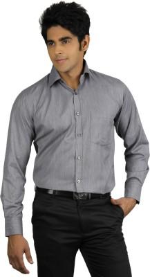 Nexq Men's Solid Formal Grey Shirt