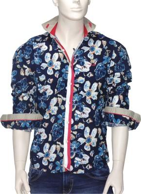 Exin Fashion Men's Floral Print Casual Multicolor Shirt