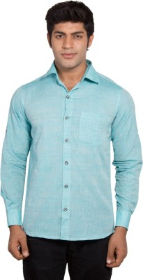 Nauhwar Men's Solid Formal Green Shirt
