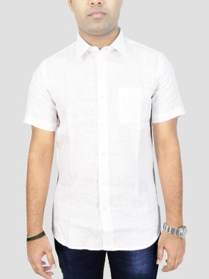 Southbay Men's Solid Casual, Party, Formal, Festive, Lounge Wear White Shirt
