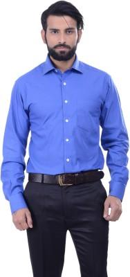 Alpha Centauri Men's Solid Casual Blue Shirt