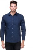 Scapes Men's Solid Casual Blue Shirt