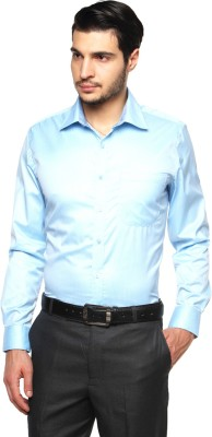British Club Men's Checkered Formal Blue Shirt