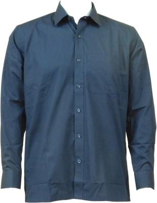 Ardeur Men's Solid Formal Dark Blue Shirt