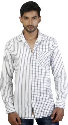 Repique Men's Checkered Casual White Shirt