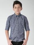 WROGN for Tweens Boys Printed Casual Blu...