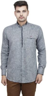 Swiss Culture Men's Solid Casual Grey Shirt