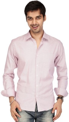 Acropolis Men's Solid Formal Maroon Shirt