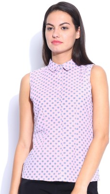 Mast & Harbour Women's Printed Casual Pink Shirt