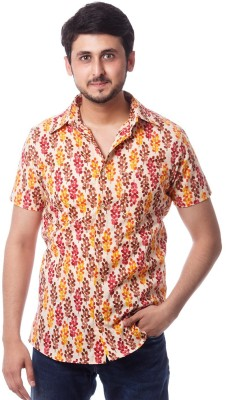 ERBE Men,s Floral Print Casual Multicolor Shirt
