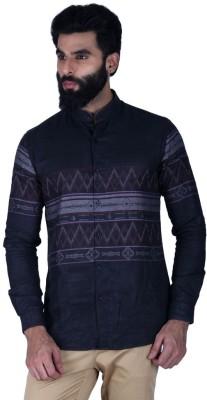 Lawman Pg3 Men,s Printed Casual Black Shirt