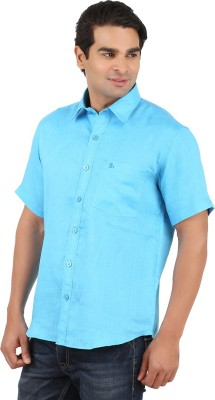 GM Men's Solid Formal Linen Multicolor Shirt