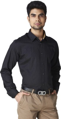 Warewell Men's Printed Party Black Shirt