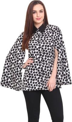 Blink Women's Printed Casual Black, White Shirt