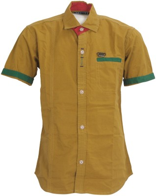 Font Kids Boy,s Solid Casual Brown Shirt