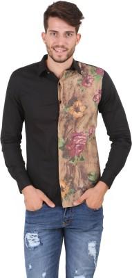 House Of Fett Men's Self Design Casual Multicolor Shirt