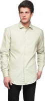 Pret A Porter Formal Shirts (Men's) - Pret a Porter Men's Solid Formal Green Shirt