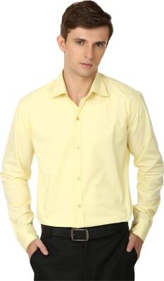 Alan Woods Men's Solid Casual Yellow Shirt