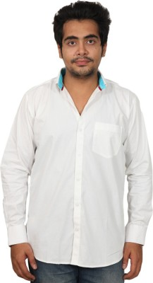 Desire Fashion Men's Solid Casual White Shirt