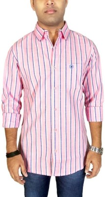 Southbay Men's Striped, Printed Casual, Party, Formal, Lounge Wear Linen Pink, Blue Shirt