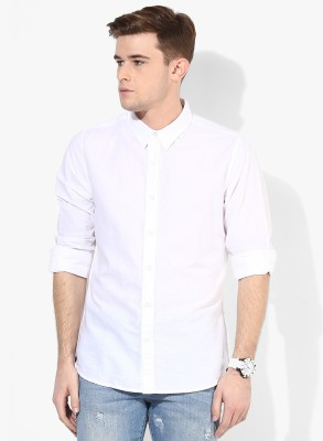 Fpc Creations Men's Solid Casual, Formal White Shirt