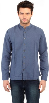 Red Tape Men's Solid Casual Blue Shirt