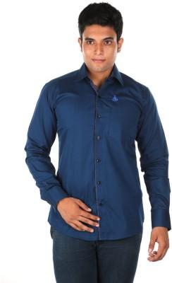 Relish Men's Solid Casual Blue Shirt