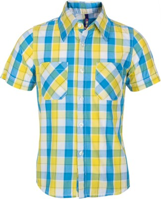 Tickles By Inmark Baby Boy's Checkered Casual Yellow Shirt