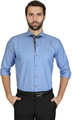 Redcountry Men's Solid Casual Blue Shirt
