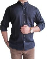 Solen Formal Shirts (Men's) - Solen Men's Harringbone Formal Black Shirt