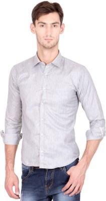 Shaurya-F Men's Solid Casual Grey Shirt
