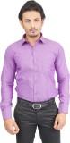 Success Men's Solid Formal Purple Shirt