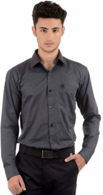 Winsome Deal Men's Solid Formal Grey Shirt