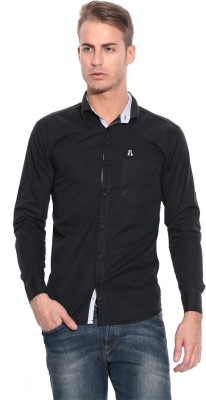Pazel Men's Solid Casual Black Shirt