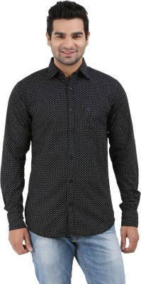 Haberfield Men's Printed Casual Black Shirt
