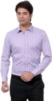 Dewberrys Formal Shirts (Men's) - Dewberrys Men's Checkered Formal Purple Shirt