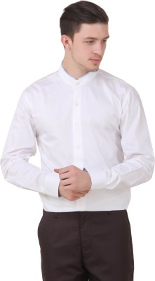 Roar and Growl Men,s Solid Casual White Shirt