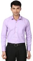 Attrayant Formal Shirts (Men's) - Attrayant Men's Solid Formal Purple Shirt