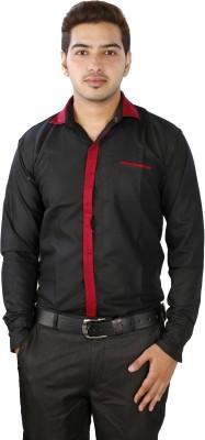 FTC Bazar Men's Solid Formal Black Shirt