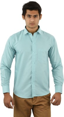 Aurus Men's Solid Formal Light Green Shirt